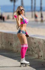 ANA BRAGA Out at Santa Monica Beach 04/19/2017