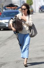 ANDIE MACDOWELL Out with Her Dog in Los Angeles 04/04/2017