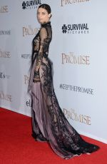 ANGELA SARAFYAN at The Promise Premiere in Hollywood 04/12/2017