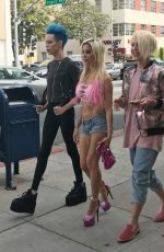 ANGELIQUE FRENCHY MORGAN Out and About in Beverly Hills 04/05/2017