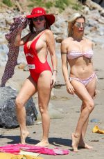 ANGLEIQUE FRENCHY MORGAN and PHOEBE PRICE on the Set of a Photoshoot in Malibu 04/09/2017