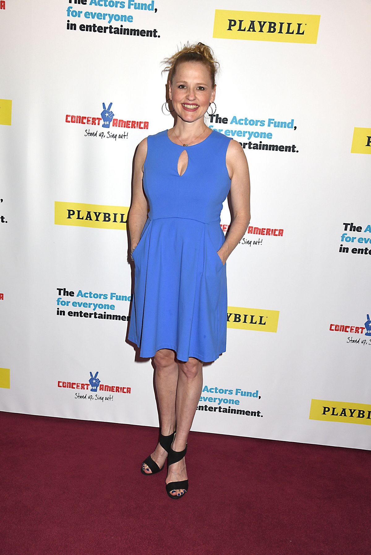 ANIKA LARSEN at Concert for America: Stand Up, Sing Out in New York 04/18/2017