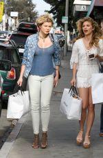 ANNALYNNE and ANGEL MCCORD Leaves Revolve Social Club in Los Angeles 04/07/2017