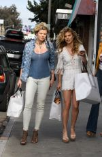 ANNALYNNE and ANGEL MCCORD Leaves Revolve Social Club in Los Angeles 04/07/2017