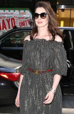 ANNE HATHAWAY Arrives at Watch What Happens Live in New York 04/18/2017