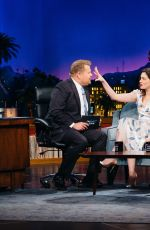 ANNE HATHAWAY at Late Late Show with James Corden in Los Angeles 04/20/2017