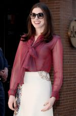 ANNE HATHAWAY at The View in New York 04/18/2017