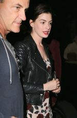 ANNE HATHAWAY Night Out in Hollywood 04/07/2017