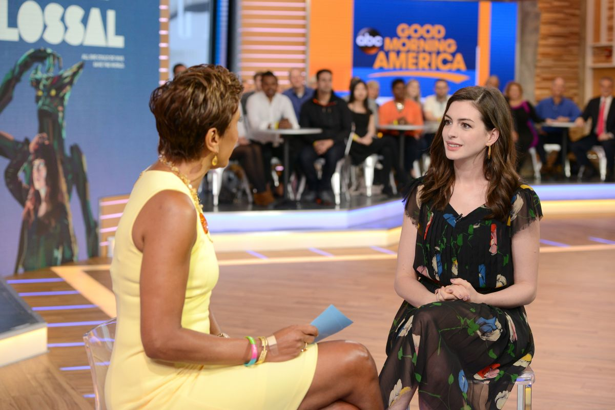 ANNE HATHAWAY on the Set of Good Morning America 04/17/2017