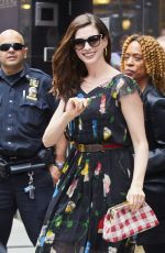 ANNE HATHAWAY Out and About in New York 04/17/2017