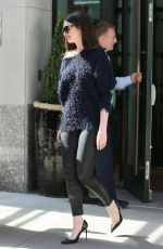 ANNE HATHAWAY Out in New York 04/18/2017