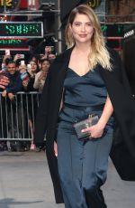 ASHLEY BENSON Arrives at Good Morning America in New York 04/18/2017