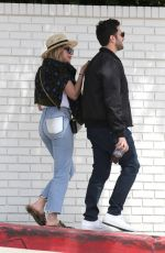 ASHLEY BENSON Out and About in West Hollywood 04/09/2017