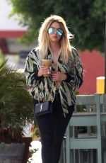 ASHLEY BENSON Out for Luch at Artisan Cheese in Studio City 04/25/2017