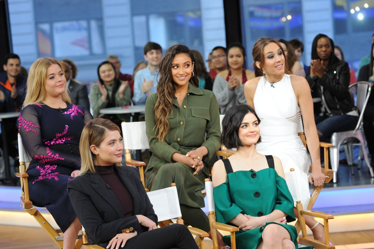 Good Morning America Photos : Ashley benson shay mitchell sasha pieterse troian