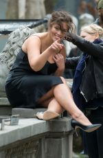 ASHLEY GRAHAM on the Set of a Photoshoot for Harper