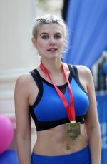 ASHLEY JAMES at 2017 Virgin Money London Marathon in London 04/23/2017
