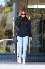 ASHLEY TISDALE Leave Barneys in Los Angeles 03/31/2017