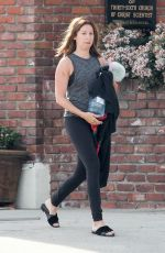 ASHLEY TISDALE Makeup Free Arrives a a Gym  in Los Angeles 04/05/2017