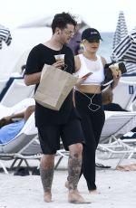 BEBE REXHA at a Beach in Miami 04/08/2017