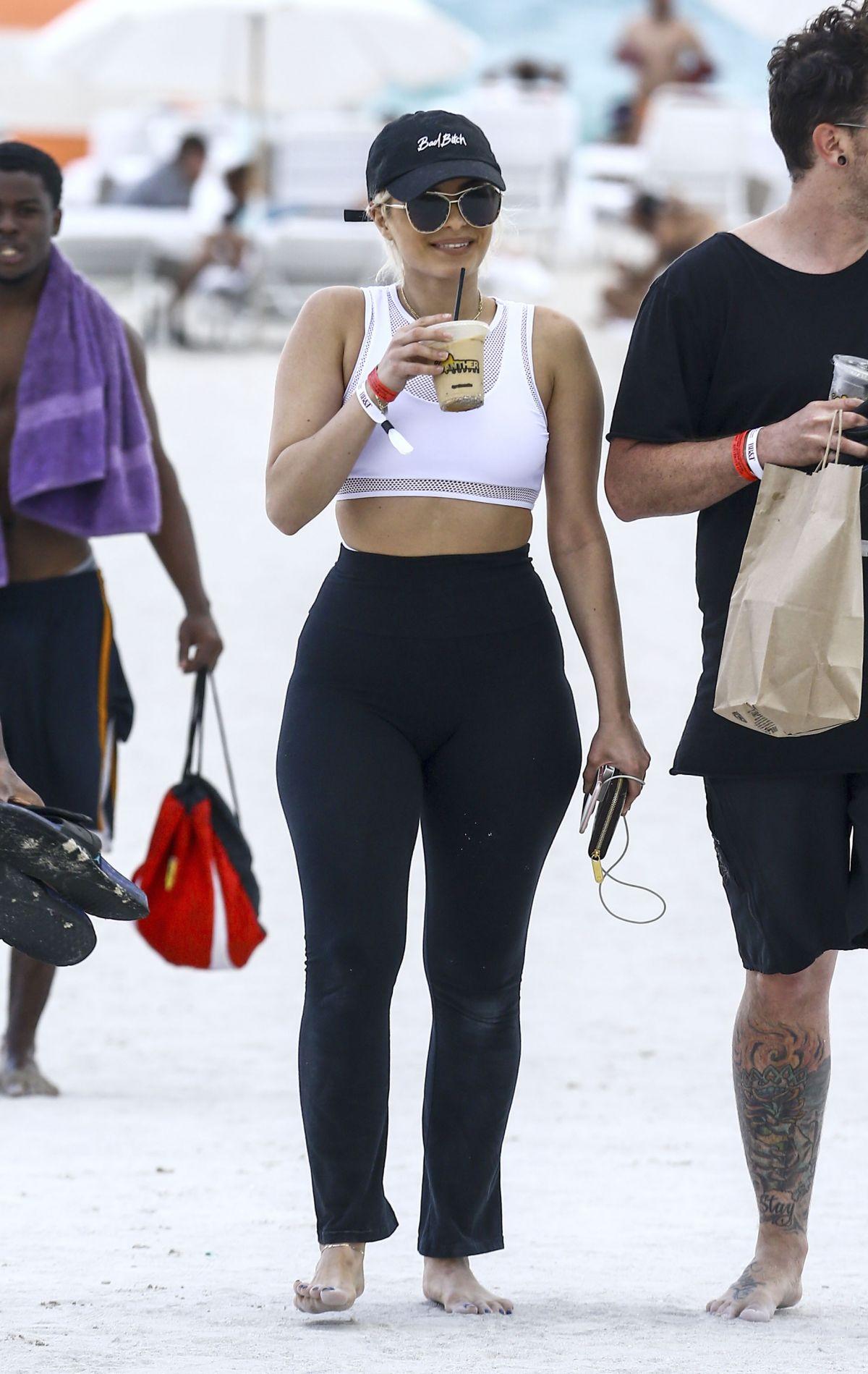 Bebe Rexha At A Beach In Miami 04 08 2017 Hawtcelebs