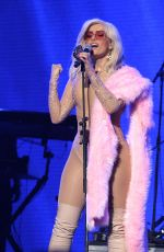 BEBE REXHA Performs at ACLU Benefit Concert in Los Angeles 04/03/2017