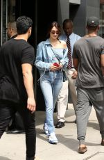 BELLA HADID in Jeans Leaves Her Apartment in New York 04/29/2017