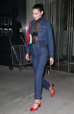 BELLA HADID Leaves an Office in New York 04/04/2017