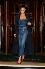 BELLA HADID Leaves Connaught Hotel in London 04/20/2017