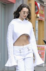 BELLA HADID Leaves Her Apartment in New York 04/27/2017