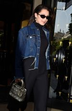 BELLA HADID Out and About in Paris 04/21/2017