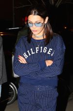 BELLA HADID Out for Dinner in New York 0405/2017