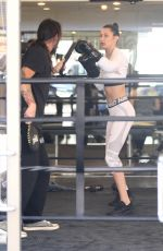BELLA HADID Working Out at Gotham Gym in New York 04/08/2017
