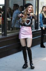 BELLA THORNE Arrives at AOL Studios in New York 04/18/2017