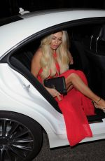 BIANCA GASCOIGNE Arrives at STK Restaurant in London 04/13/2017