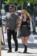 BILLIE LOURD and Taylor Lautner Out Shopping in Los Angeles 04/19/2017