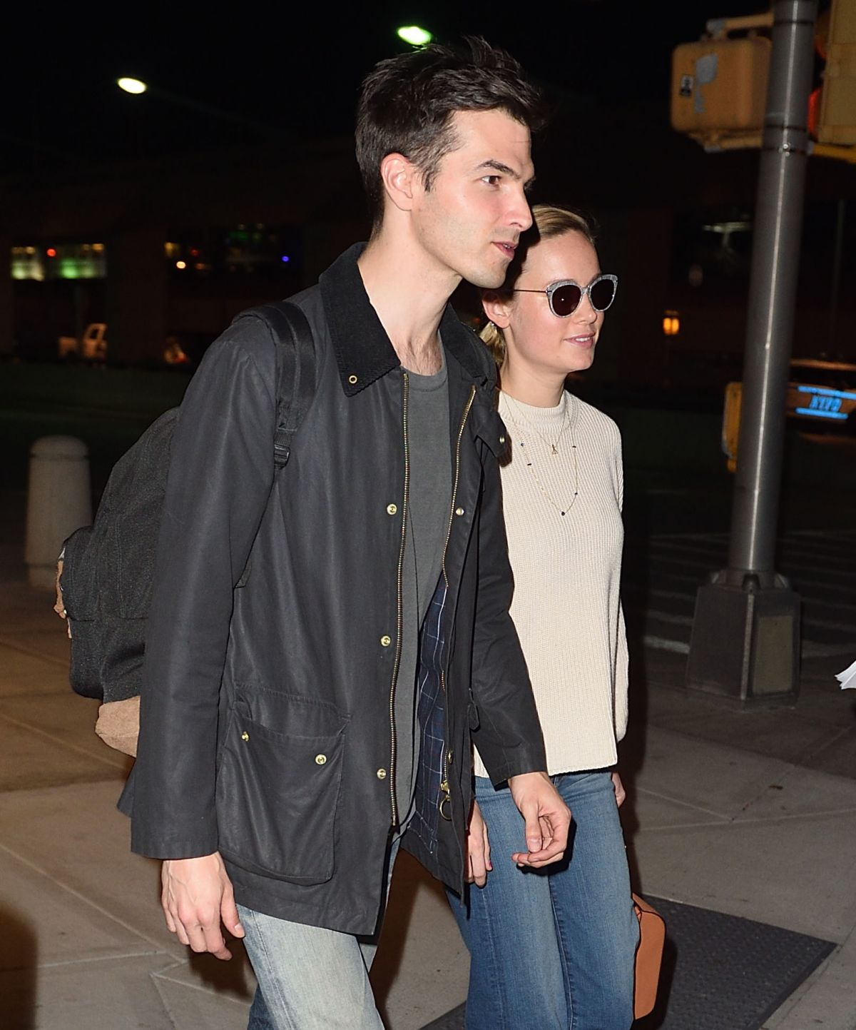BRIE LARSON and Alex Greenwald at JFK Airport in New York 04/29/2017