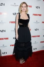 BRIE LARSON at Free Fire Premiere in Los Angeles 04/13/2017