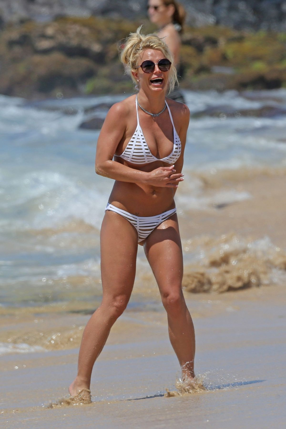BRITNEY SPEARS in Bikini on the Beach in Hawaii 04/10/2017
