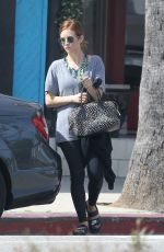 BRITTANY SNOW Leaves Pilates Class in Los Angeles 04/25/2017