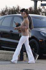 BROOKE BURKE Arrives at Nobu in Malibu 04/13/2017