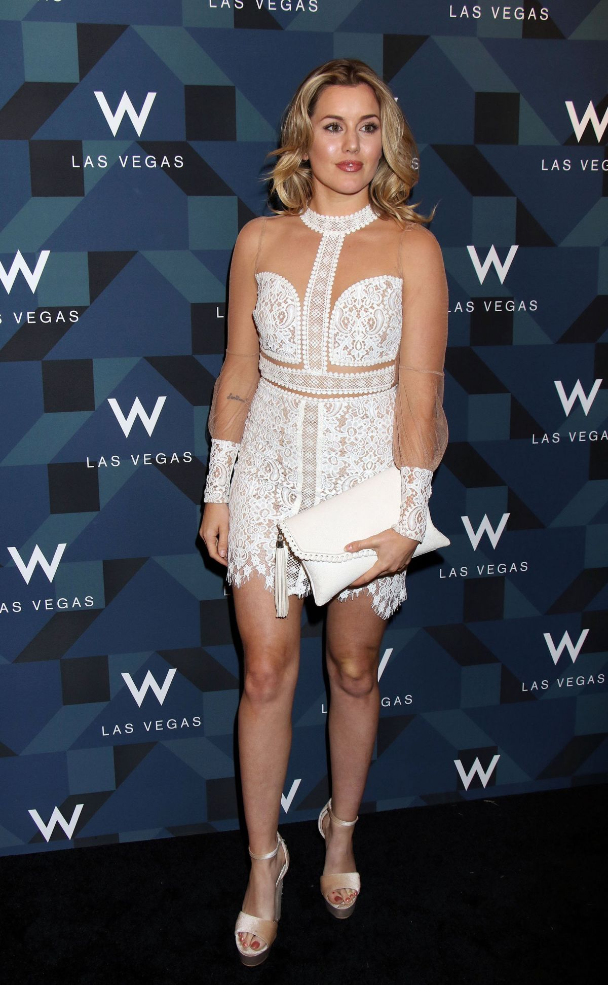 CAGGIE DUNLOP at W Las Vegas Grand Opening Celebration in Las Vegas 03/31/2017