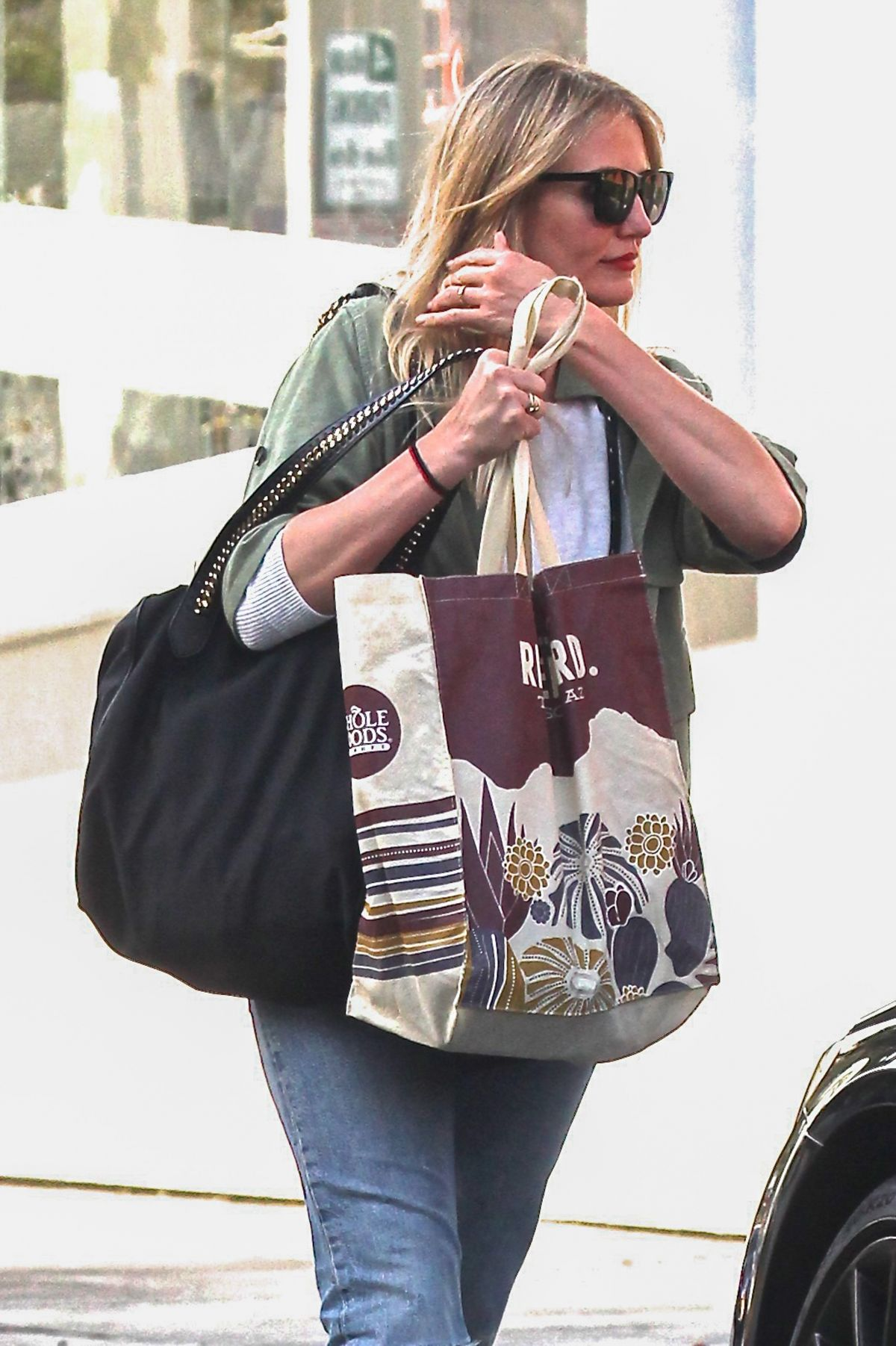 CAMERON DIAZ Out and About in Beverly Hills 04/18/2017