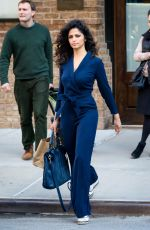 CAMILA ALVES in Pant Suit Out in New York 04/05/2017