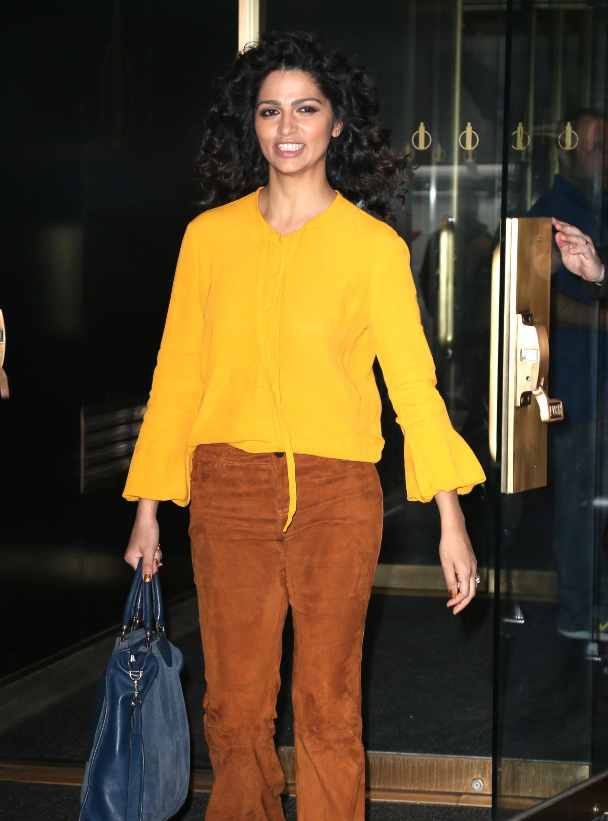 CAMILA ALVES Leaves Today Show in New York 04/05/2017