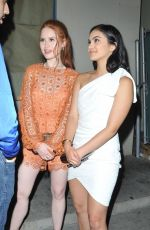 CAMILA MENDES and MADELAINE PETSCH at Catch LA in West Hollywood 04/21/2017