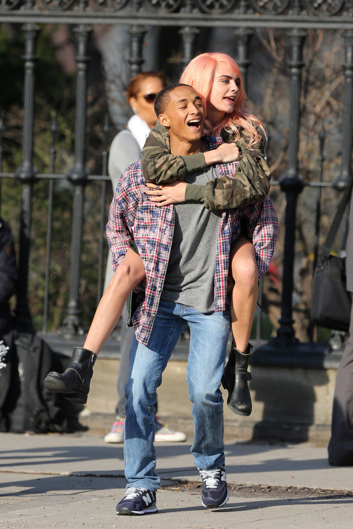 Cara Delevingne And Jaden Smith On The Set Of Life In A