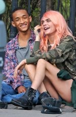 CARA DELEVINGNE and Jaden Smith on the Set of Life in a Year in Toronto 04/20/2017