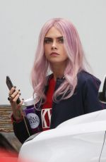 CARA DELEVINGNE on the Set of Life in a Year in Toronto, April 2017