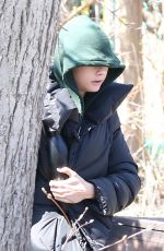 CARA DELEVINGNE Out and About in Toronto 04/24/2017